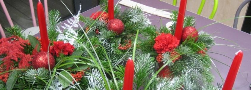 Décoration de Noël végétales