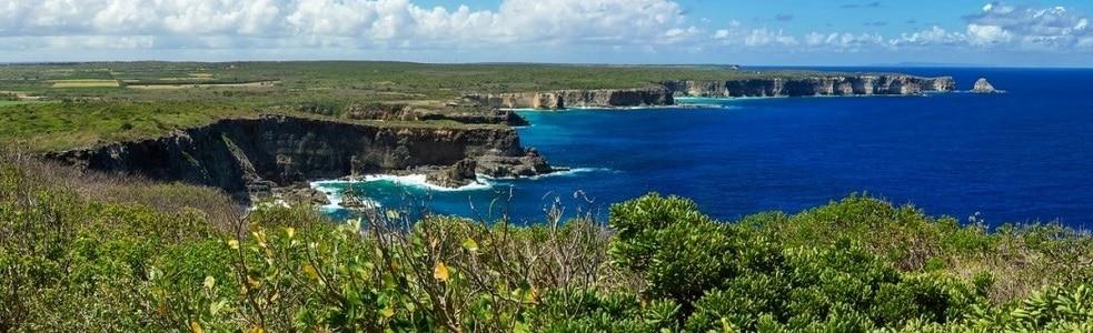 Un beau panorama de la Guadeloupe