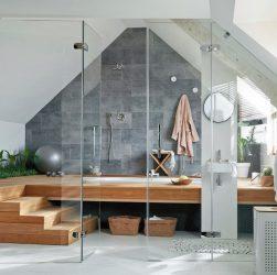 Salle de bain mansardée