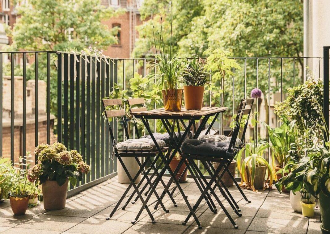 Balcon terrasse aménagé