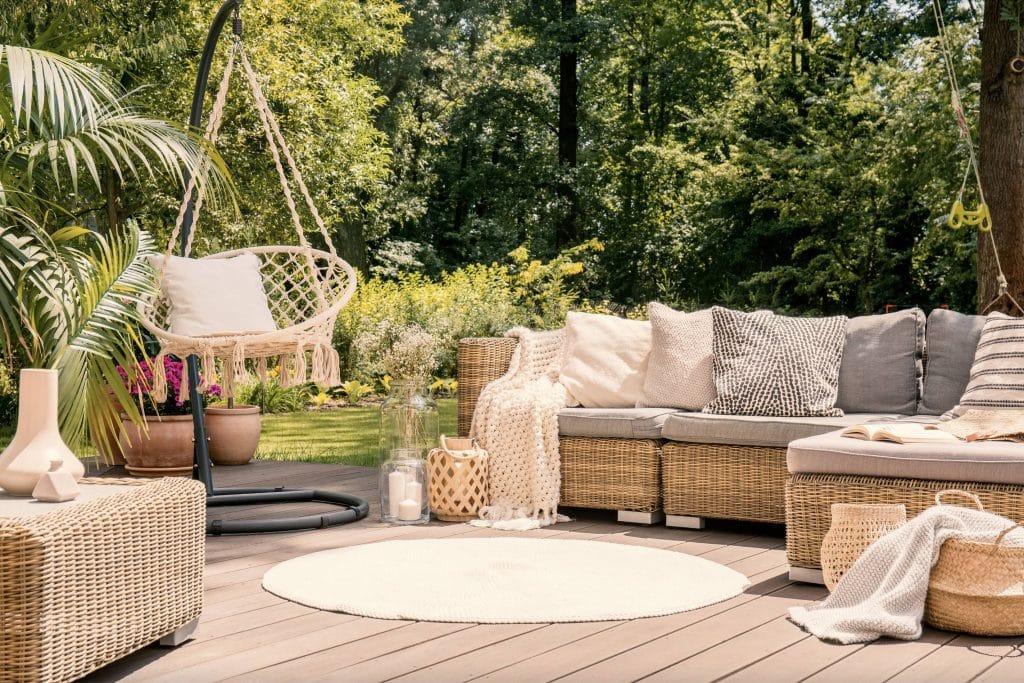 resine tressée mobilier de jardin